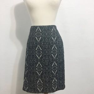 Talbots NWT Gray and Black Pencil Skirt